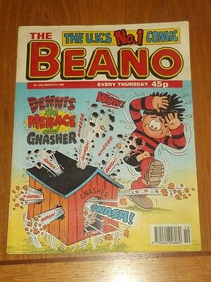 Beano #2903 7Th March 1998 British Weekly