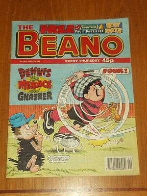 Beano #2917 13Th June 1998 British Weekly