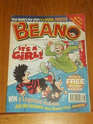 Beano #2931 19Th September 1998 British Weekly