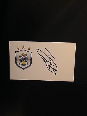 Tony Carss Ex Huddersfield Town Hand Signed White Crested Card