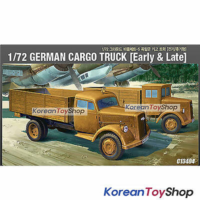 Academy 13404 1/72 Plastic Model Kit German Cargo Truck Early & Late Series 5