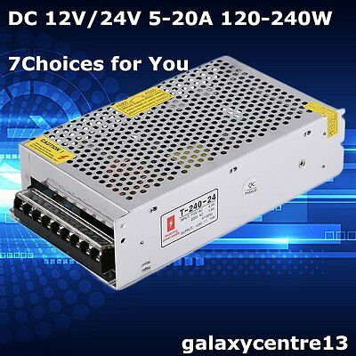 5-20A DC 12/24V Universal Regulated Switching Power Supply for Closed Circuit TV