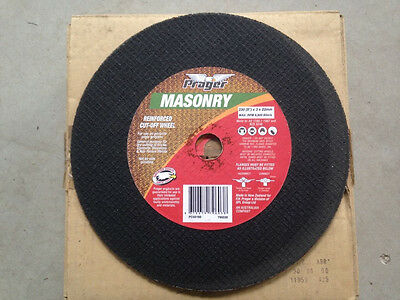 Prager Reinforced Masonry Cutting Cut Off Wheel box of 25 brand new