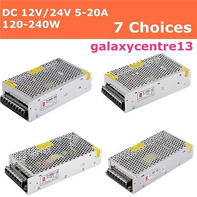 Universal Regulated Switching Power Supply for LED Strip Light 120-240W 12/24V
