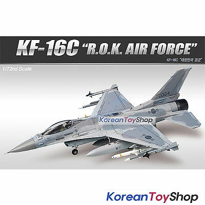 Academy 12418 1/72 Plastic Model Kit KF-16C ROK Air Force Made in Korea