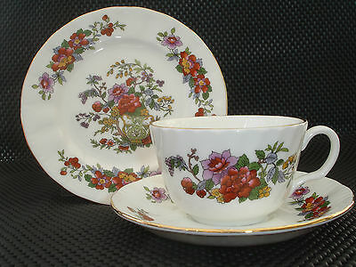 "Vintage Bone China Trio ""royal Vale"" England. Beautiful Flora Pattern."