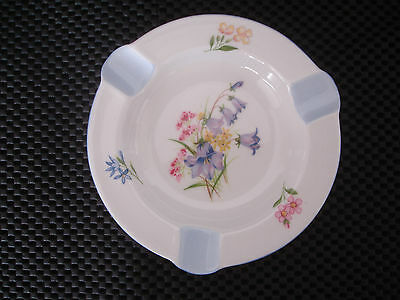 Vintage Collectable China Ashtray By Shelley England. Beautiful Flower Pattern.
