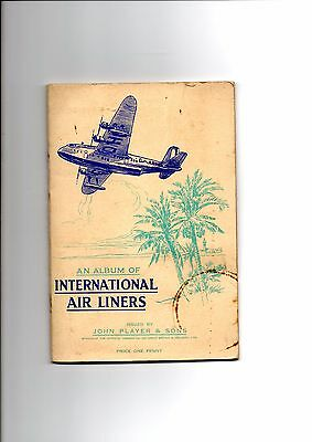 John Player Cigarette Cards - Book - Airliners - Cards Missing