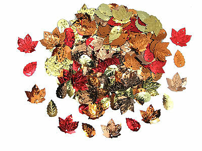 Mixed Autumn Leaf Sequins | Choice of Pack Sizes | High Quality Embossed Design