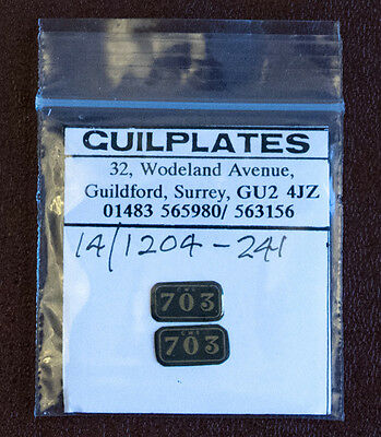 GWR 703 LOCOMOTIVE CAB SIDE PLATES, 0 GAUGE, 7mm SCALE, NEW, UNUSED, GUILPLATES