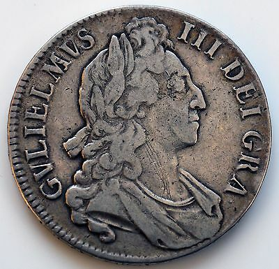 William III 1696 Octavo Crown               (SN)