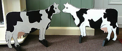 2 x COWS shaped Horse show jump fillers or wings pony show farm event dairy sign