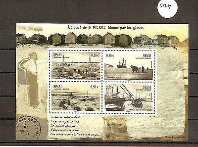 St. Pierre and Miquelon 2009 SG1102 ms 4v Sheet Ships Blocked in by Ice-1920's