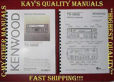 TS-590S Service & Instruction Manual on 32LB Paper w/The Heavier Covers!!
