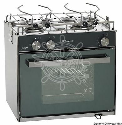 Smev Sunlight Gas Cooker 2 Burners + Oven