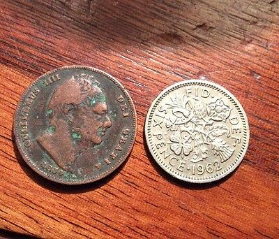 Old Britannia George IIII Coin, Dated 1834 In Good Condition For Age.