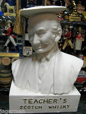 Teachers Scotch Whisky Ceramic Advertising Bust C1950  Excellent Condition