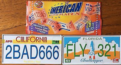MGM MovieGum American Licence Plates, 26 AMERICAN COUNTY CAR REGISTRATION PLATES