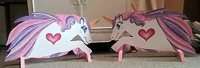2 x UNICORNS & stand hand painted show jump fillers pony horse show farm events