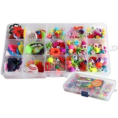 Loom Zubehör Set LOOM Accessories Clips Ringe Würfel Beads Charms günstig