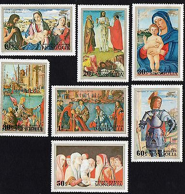 """Mongolia.  1972 Airmail - """"Save Venice"""" - Paintings  MNH"""