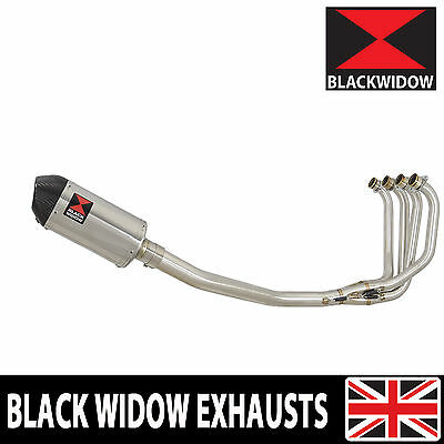 KAWASAKI ZRX 1100 Full Exhaust System Oval Stainless/Carbon Tip Silencer 200ST