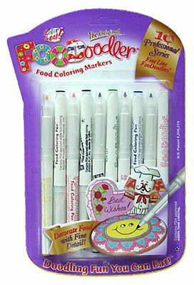 Edible Ink Writing Pens 10 Colouring Markers. Fine Line