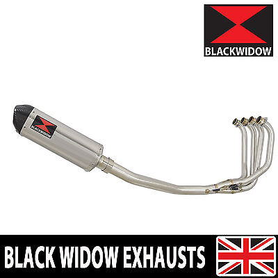 KAWASAKI ZRX 1100 Full Exhaust System Oval Stainless/Carbon Tip Silencer 300ST