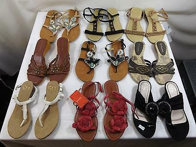 Job Lot Womens Sandals Flip Flops Various Styles Sizes 3-8 42 Pairs All New