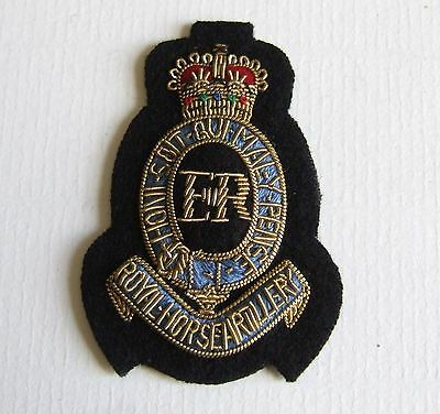British Army Royal Horse Artillery R.h.a. Officers Beret Badge