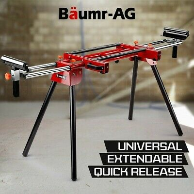 NEW Baumr-AG Mitre Saw Stand Universal Adjustable Portable Drop Saw Bench Table