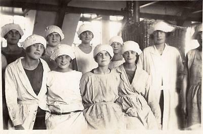Edwardian Ladies Factory Workers Laundry Textiles Social History RP Postcard g1
