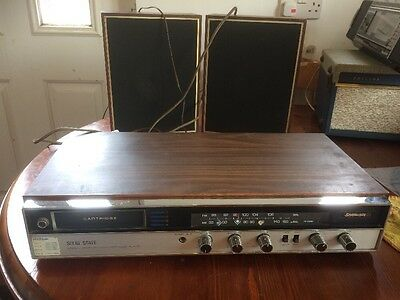 Solid State Vintage 8 track Stereo Cartridge Player With Radio