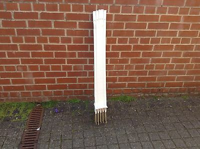10 x WHITE  3 Ft Electric fence posts