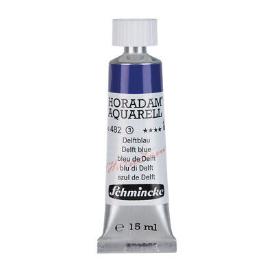 (69,87€/100ml) Schmincke 15ml HORADAM Aquarell Delftblau Aquarell  14 482 006