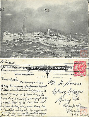 Angleterre - PAQUEBOT - SOUDAN - Troopship N°6 - At Sea 1912 - London F.S.