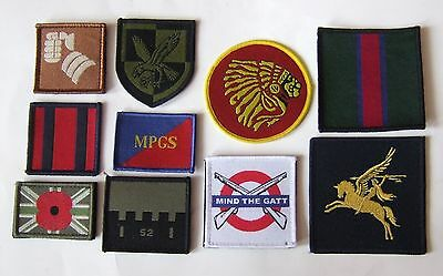 BRITISH ARMY TACTICAL RECOGNITION TRF ARM PATCHES x 10 DIFFERENT # 3