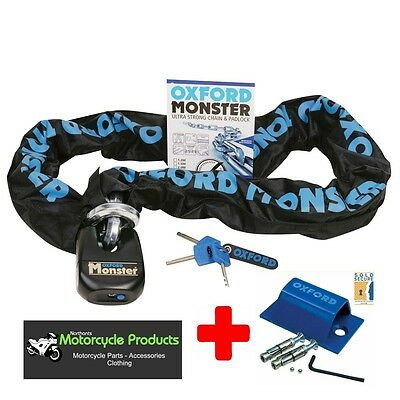 Oxford Monster Chain And Lock 1.5 Mtr Motorcycle Chain Thatham Approved + Anchor