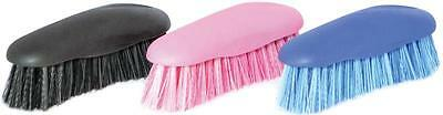 Stable Kit Grip Face Brush - Grooming Equestrian Horse Pink / Blue / Black