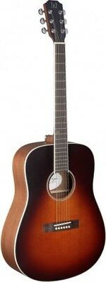 J.N Guitars EZR-D Dreadnought Acoustic Guitar Sunburst Solid Cedar Top