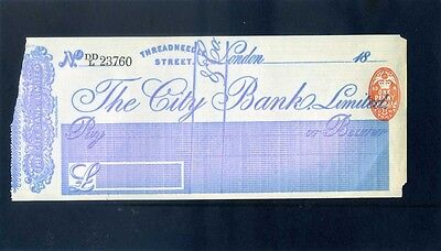 Unused The City Bank Limited  18**  Cheque