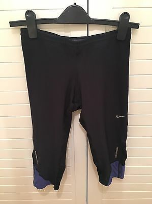 Nike Dry Fit Ladies Sports Running Yoga Tights Leggings Sz S Black Purple
