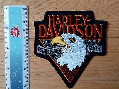 HARLEY- DAVIDSON  Embroidered Iron/Sew-on Badge  NEW
