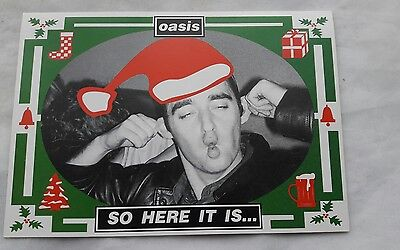Oasis - fanclub only signed Christmas card 1994 oop