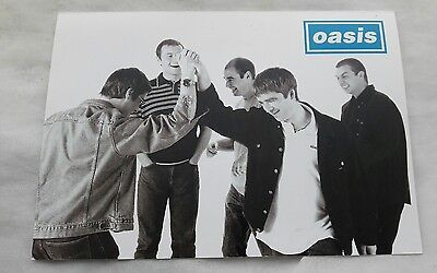 Oasis - fanclub only signed Christmas card 1997 oop