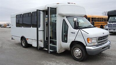 2000 Ford Champion Used Commercial 22 Passenger Bus 6.8L Gas Engine 185390K3