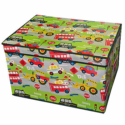 Children's Construction Work Foldable Storage Box - Ideal for Clothes Toys Books