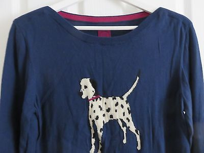JOULES Marsha Navy Jumper Size 18 Dalmation Dog On The Front Mother's Day Gift
