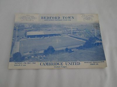 1965-66  SOUTHERN LEAGUE BEDFORD TOWN v  CAMBRIDGE UNITED