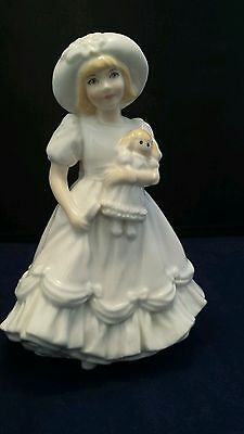 Royal Worcester Figurine Katie          { Collectors Society }
